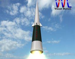 Sprint Missile 3D Model
