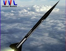 3d asset black brant ii sounding rocket game-ready