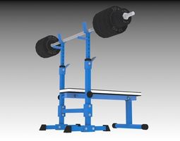 3D model Weightlifting Bench