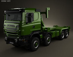 3d model scania r 480 military tractor truck 2010