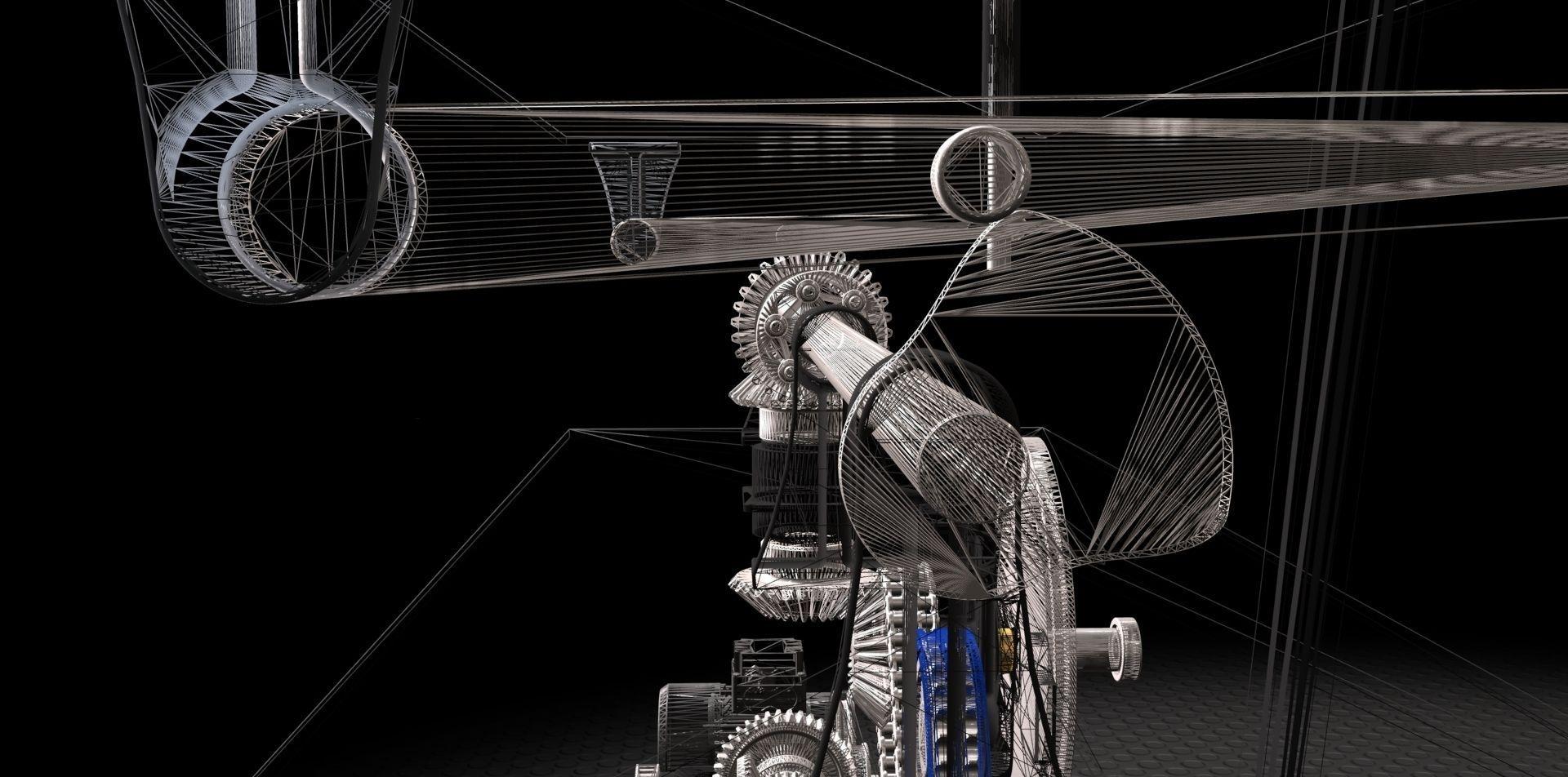 Machine design exercise free 3d model stl stp for Decor 3d model