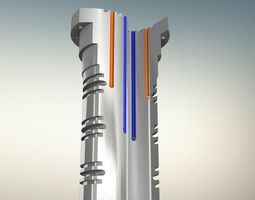 Air Manifold Shaft 3D