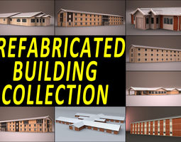 PREFABRICATED BUILDING COLLECTION 3D