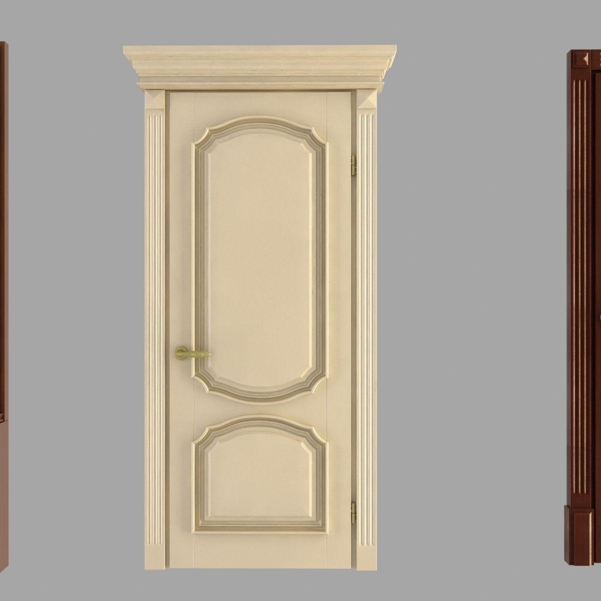 Classic doors collection 3d model max obj 3ds fbx mtl for Door 3d model