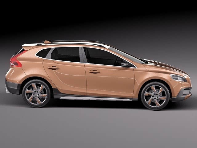 volvo v40 cross country 2013 3d model rfa. Black Bedroom Furniture Sets. Home Design Ideas