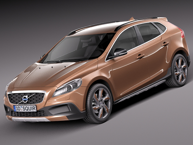 volvo v40 cross country 2013 3d model max obj 3ds fbx c4d lwo lw lws. Black Bedroom Furniture Sets. Home Design Ideas