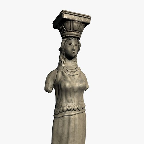 caryatid pillar 3d model low-poly max obj mtl 3ds fbx c4d ma mb 1