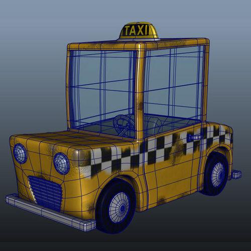 Taxi Cab Cartoon3D model