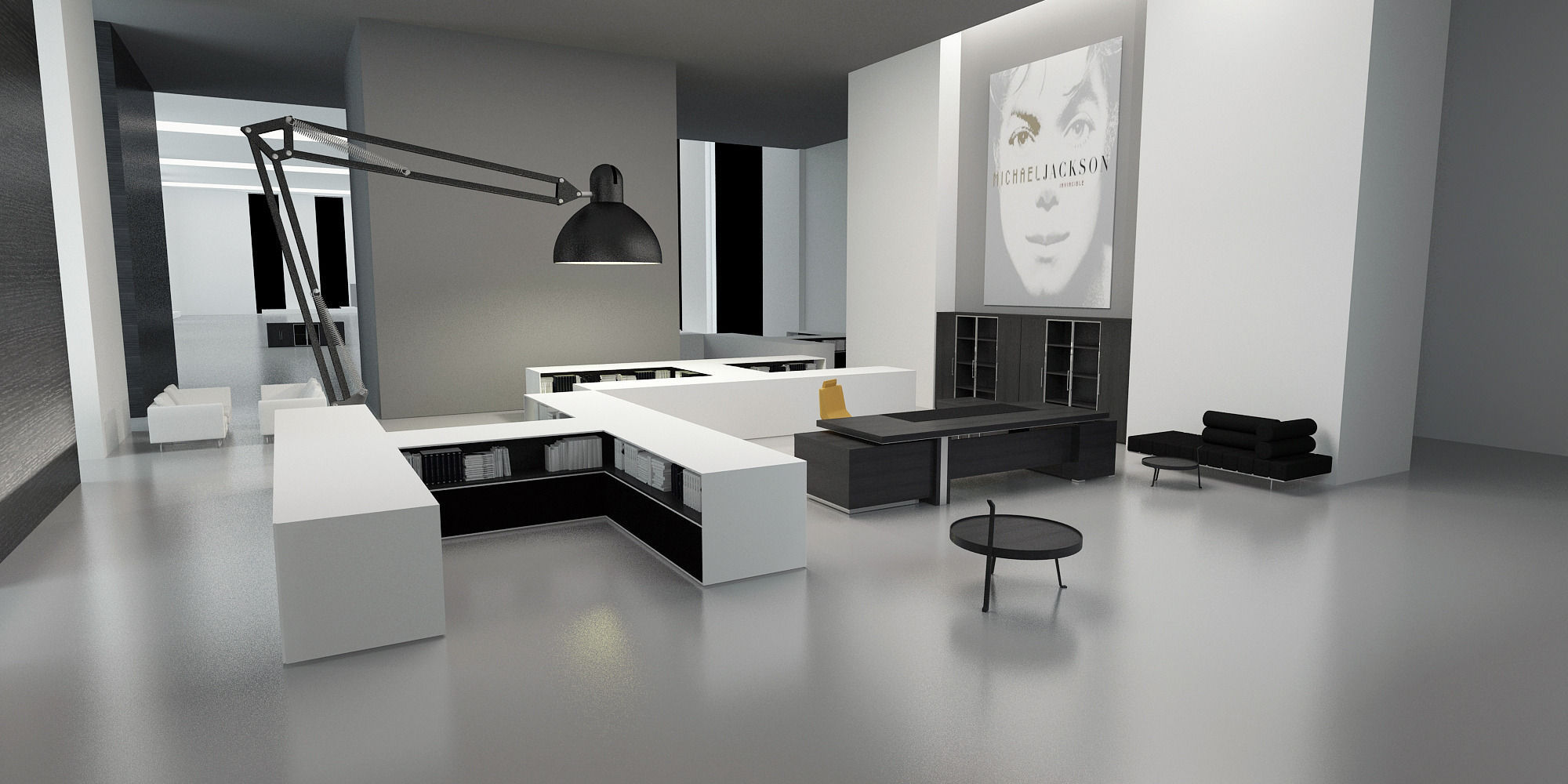 modern office interior commercial 3d model cgtrader