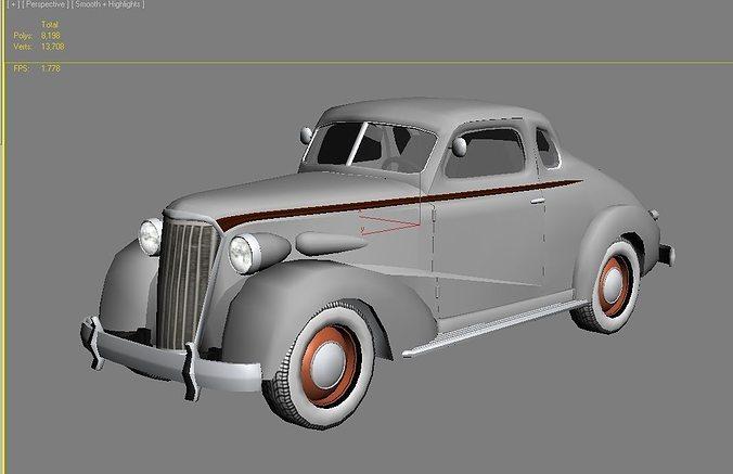 Asset Classic Car Cgtrader