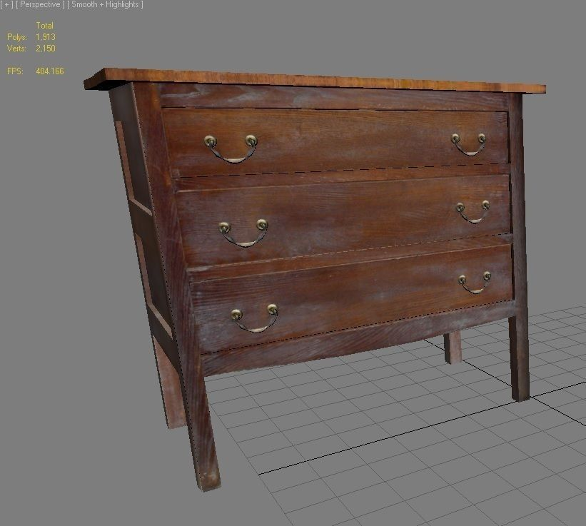 3d model old wooden table cgtrader