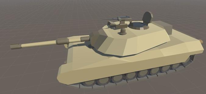 M1 Abrams Cartoon Style3D model