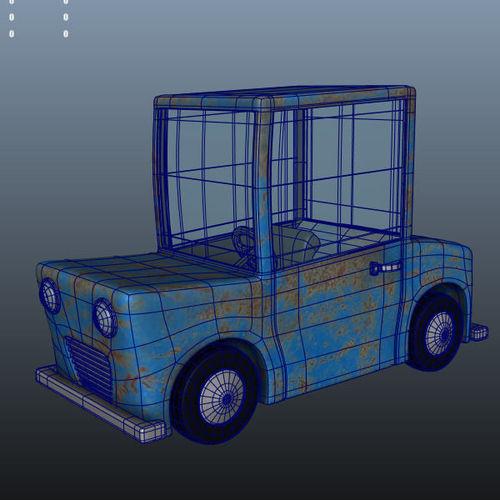 Blue Car Cartoon3D model