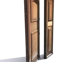 Door 25 wooden 3D asset