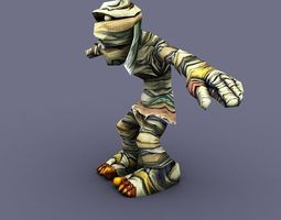 mummy cartoon man 3D Model