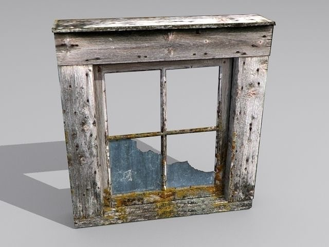 Window 2 Broken Glass 3d Asset Cgtrader