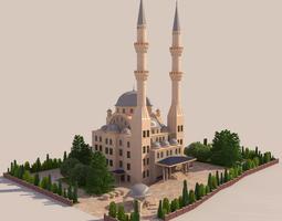 mosque - hi res 3d model max obj 3ds fbx ma mb dae