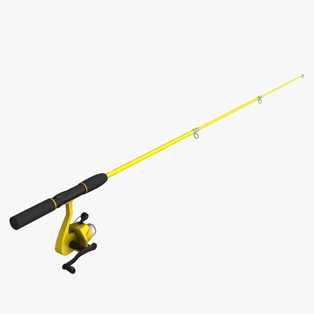 Fishing pole 3d model game ready obj fbx ma mb dae for Fishing rod game