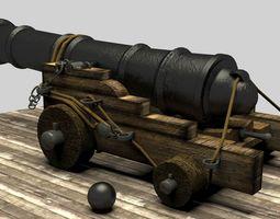 Pirate Cannon 3D model