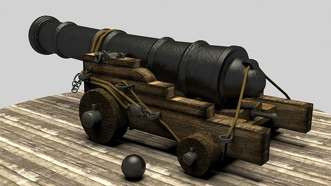Pirate Cannon 3D model | CGTrader