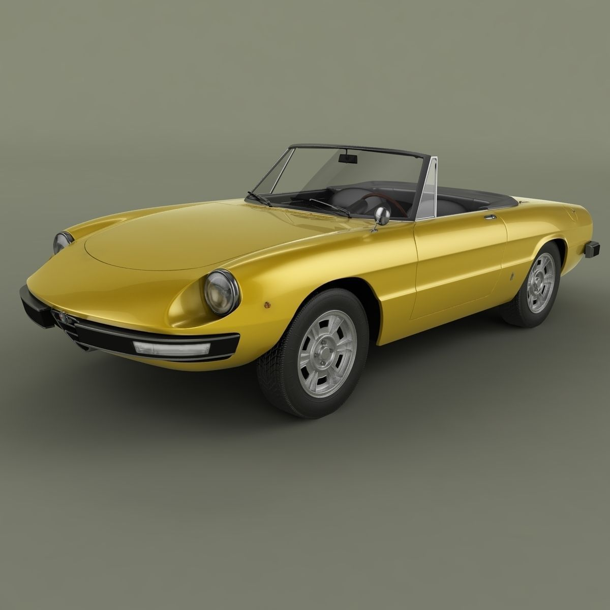 Alfa Romeo Spider 3D Model MAX OBJ 3DS STL