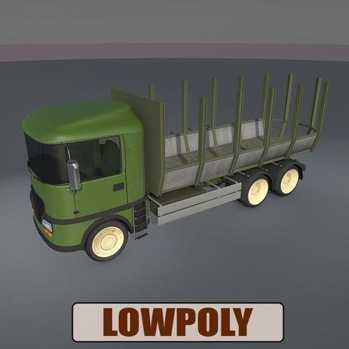 Lowpoly truck053D model