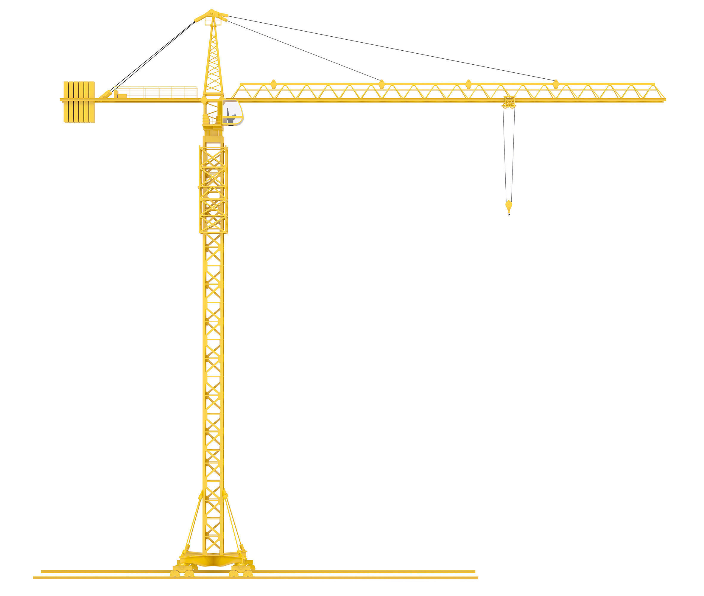 Tower Crane 3D Model Max Obj 3ds Fbx C4d