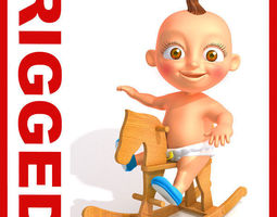 Baby Jake Cartoon Rigged 3D Model