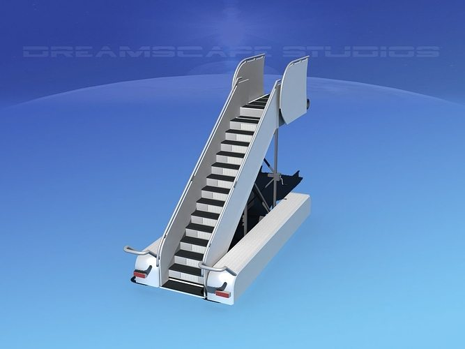 airport stairs 1 3d model max obj 3ds lwo lw lws dxf stl 1