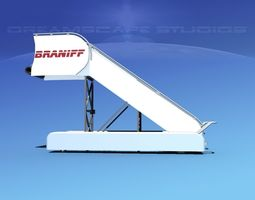 airport stairs braniff intl 3d rigged