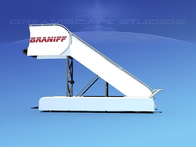 airport stairs braniff intl 3d model rigged max obj 3ds lwo lw lws dxf stl 1