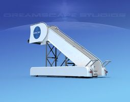 rigged airport stairs pan am 3d model