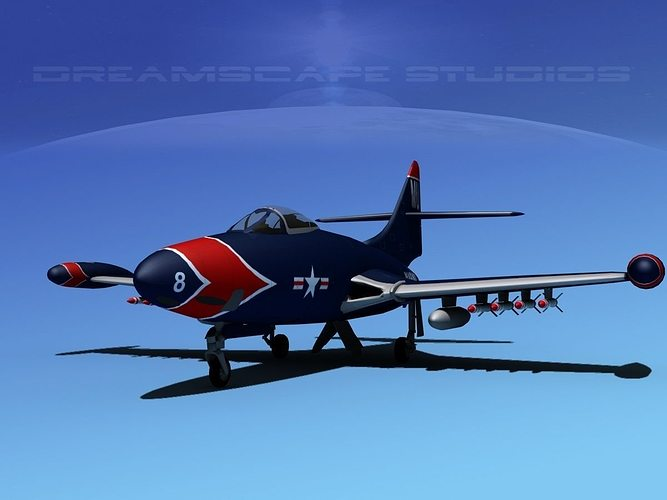 Grumman F9F-5 Panther USMC V01