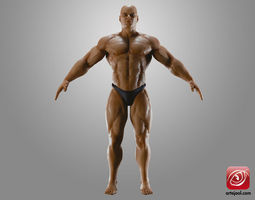 BodybuilderB 3D Model