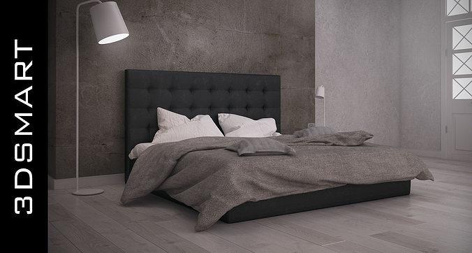 bed 3d model max obj mtl fbx 1