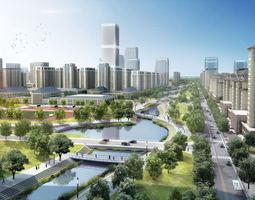 urban-skyscraper 3D model City Planning