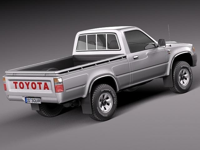 toyota hilux pickup regular cab 1989 1997 3d model rfa. Black Bedroom Furniture Sets. Home Design Ideas