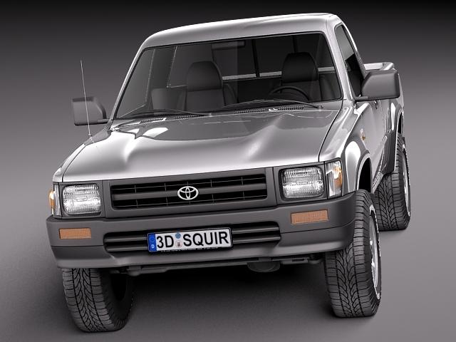 toyota hilux pickup regular cab 1989 1997 3d model max. Black Bedroom Furniture Sets. Home Design Ideas