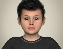 3D Realistic Little Boy
