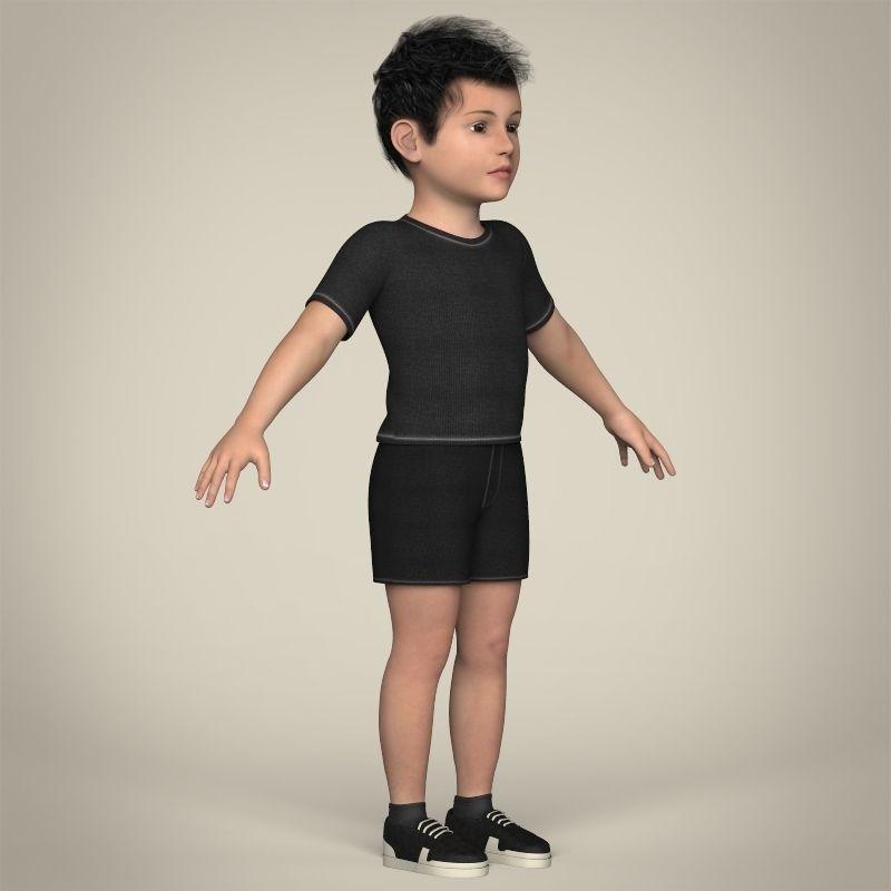 Realistic Little Boy 3D Model .max .obj .3ds .fbx .c4d ...