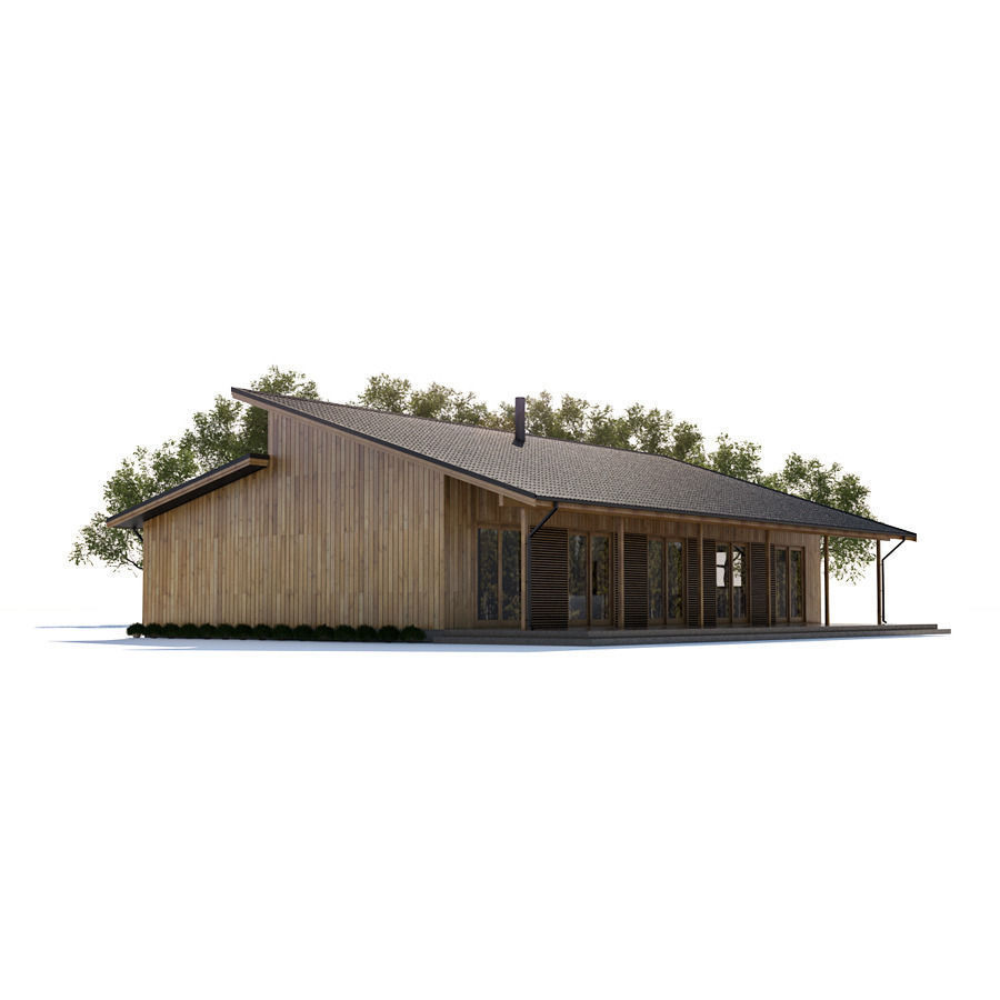 House 24 free 3d model max obj fbx for Free 3d house models