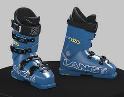 3D model Ski boots Lange