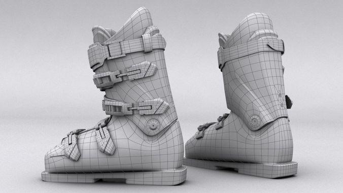 Ski boots lange 3d model max obj fbx for New model boot