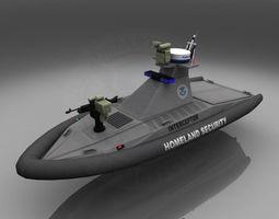 Homeland Security Unmanned Patrol Boat 3D Model