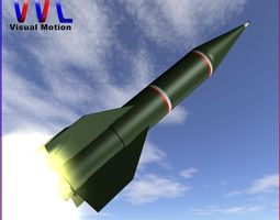 3d model shahin i rocket