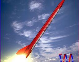 Black Brant III Sounding Rocket 3D Model