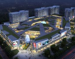 City Shopping Mall 3D high