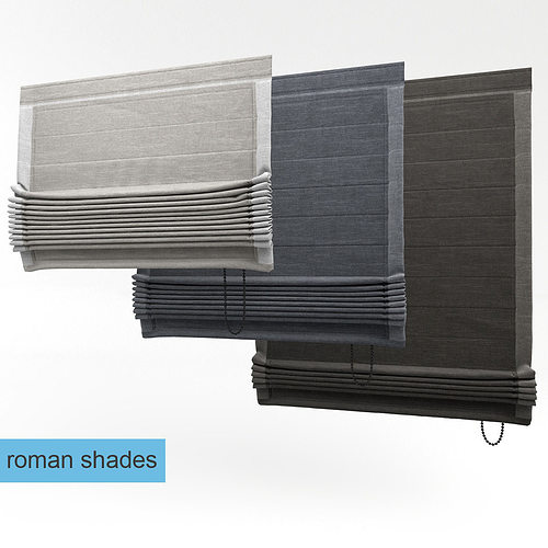 roman shades 3d model max obj mtl 1