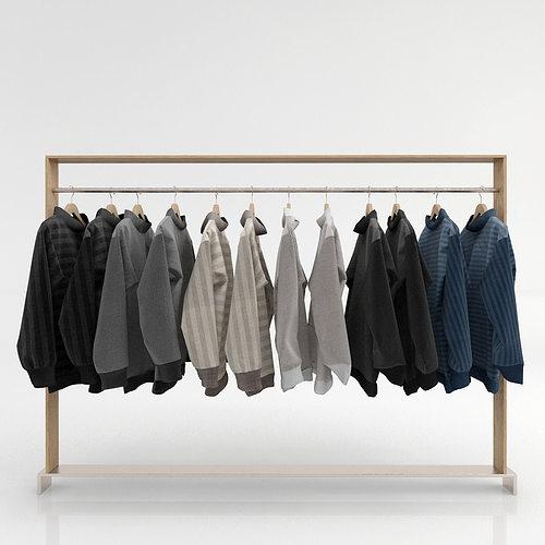 Clothing Rack 2 3d Model Cgtrader