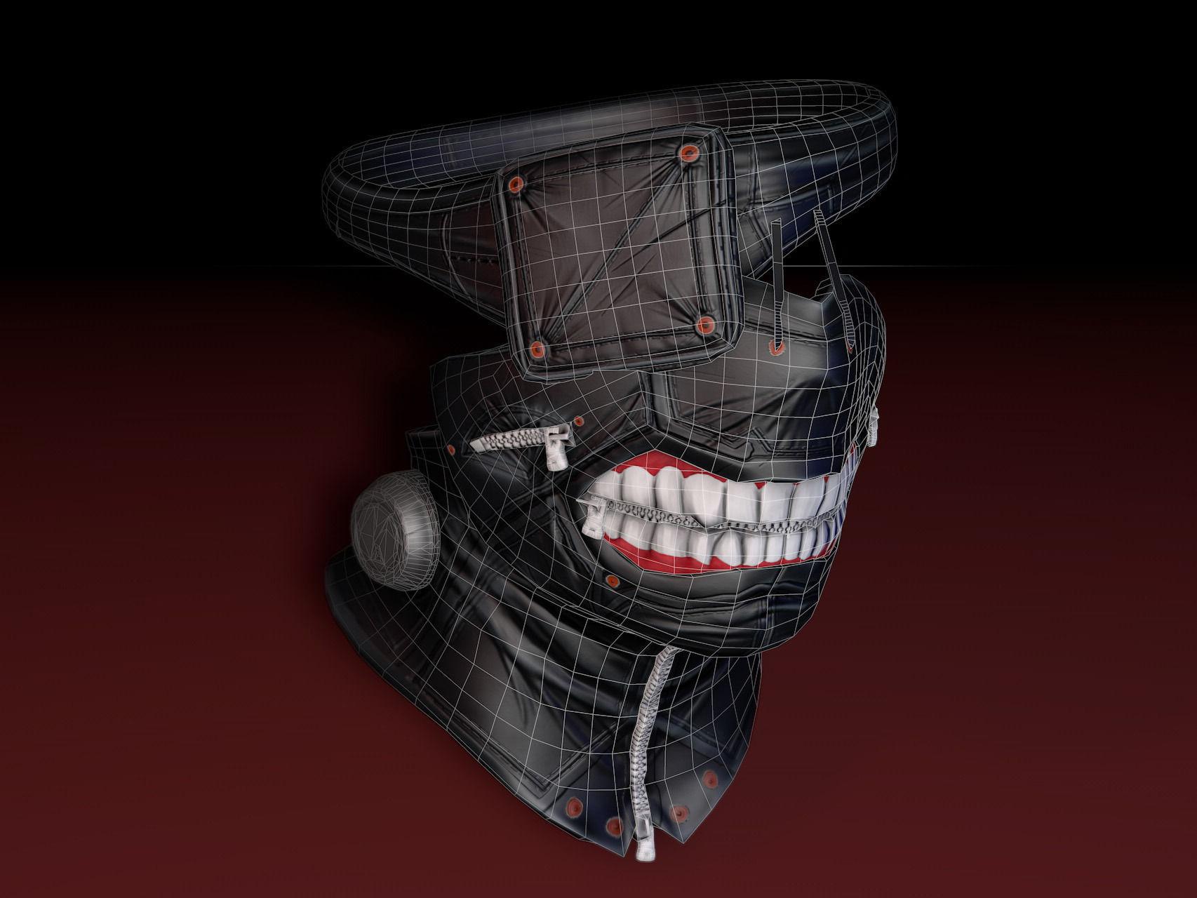 Tokyo Ghoul Mask 3D Model Game Ready Obj